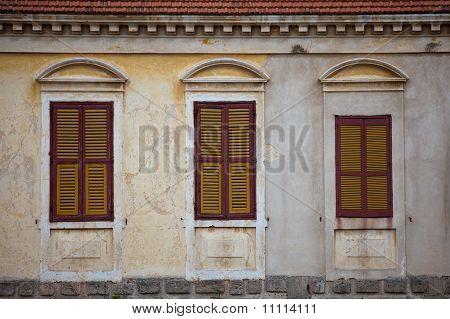 Three Traditional Greek Windows