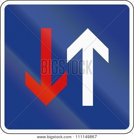 Slovenian Regulatory Road Sign - Priority Over Oncoming Traffic
