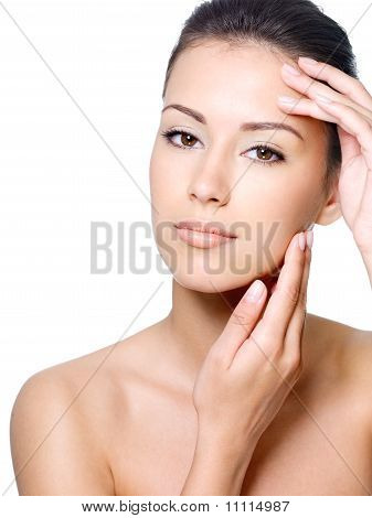 Beauty Face Of Woman With Clean Skin