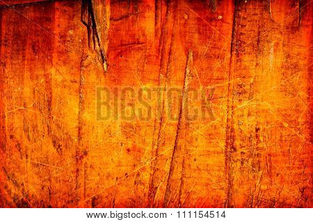 Old wood texture or background furrowed with knife