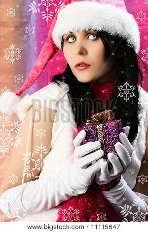 Santa's Helper With Snowflakes
