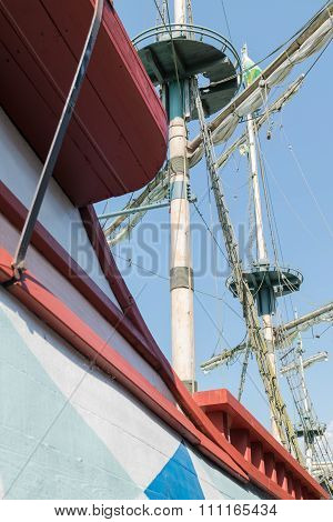 The Masts Of A Sailboat.