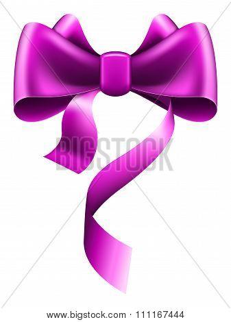 Big violet bow
