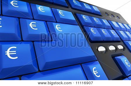 Computer Keyboard With Euro Keys
