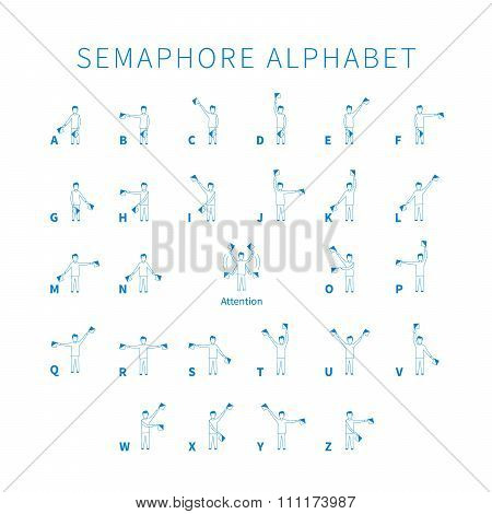 English semaphore alphabet