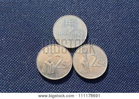 Slovak money - 2 kronas (1993 year)