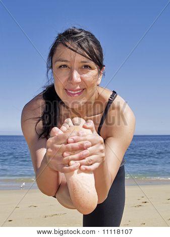 Bikram Yoga Dandayamana Janushirasana Frontal Pose
