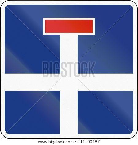Slovenian Road Sign - Dead End Road