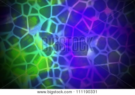 Abstract Colorful organic Illustration of skin cells or reptile