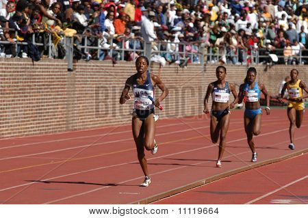 Relay Runner Leads The Race