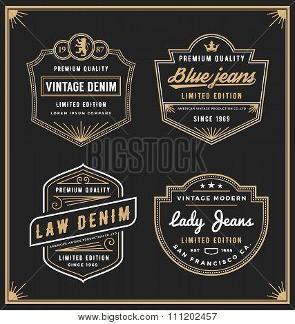 Vintage Denim Jeans Frame Logo