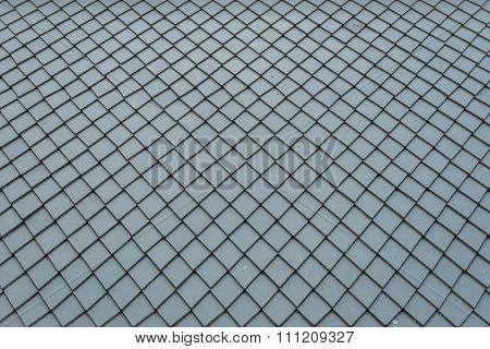 Dirty Grey Roof Tiles Pattern As Background