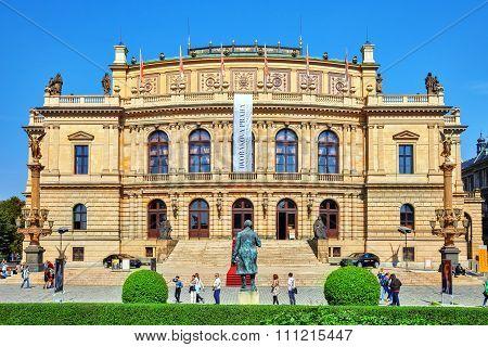 Prague, Czech Republic-september 12, 2015: Building Of The National Opera Of Prague And The Czech Re