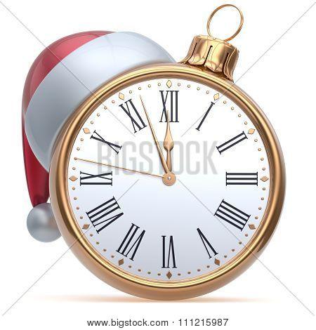 New Year's Eve Time Midnight Hour Christmas Ball Alarm Clock