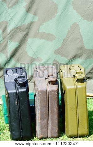 Vintage military jerry cans