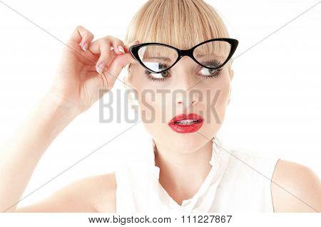 Emotional Portrait Of Pretty Business Woman