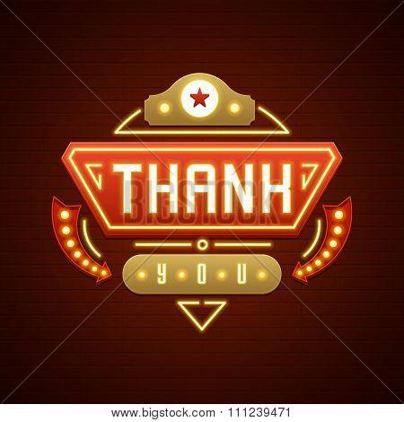 Retro Thank You Message Sign Design