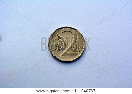 Czech money -  2 kronas (2000 year)