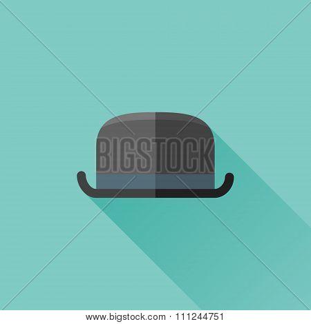 Bowler hat flat icon