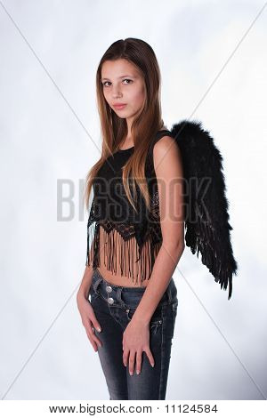The Girl With Wings Of An Angel