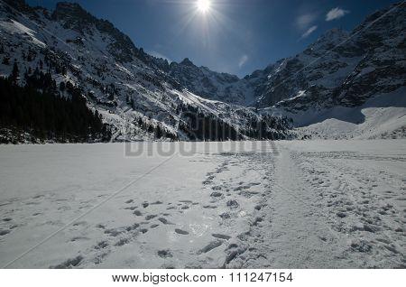 Winter mountain lake 7
