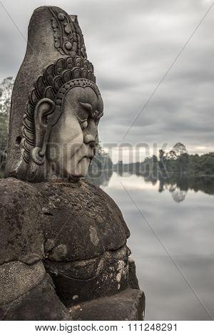 Sculpture In Angkor Wat
