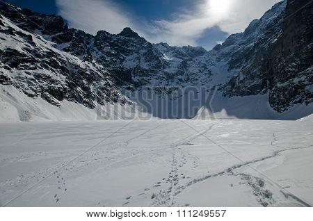 Winter mountain lake 4