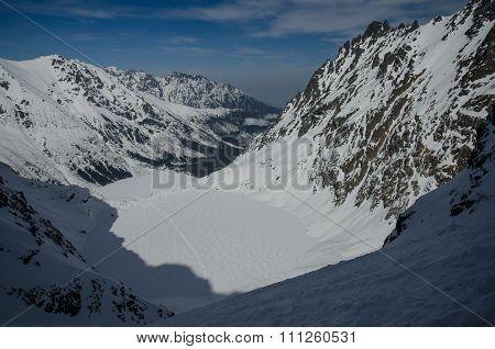 Mountain winter valley