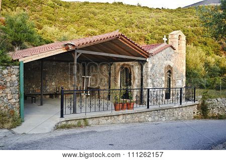 church in Taygetos mountain Messinia Greece