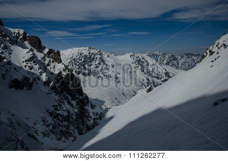 Mountain snow slope