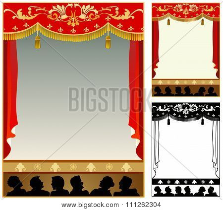 Theater stage border