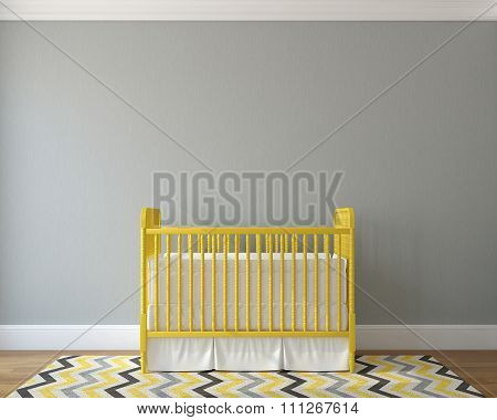 Interior Of Nursery. 3d rendering.