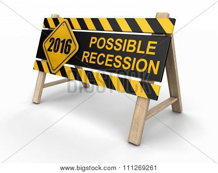 Possible recession sign. Image with clipping path