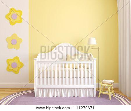 Interior Of Nursery. 3d rendering.