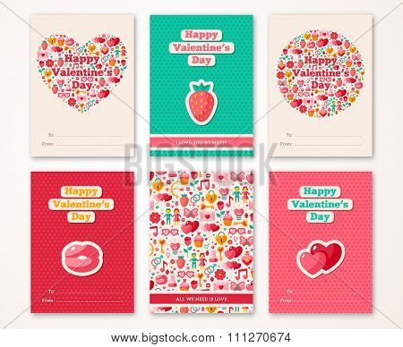 Set of Valentines Day Brochures Template
