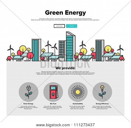 Green Energy Flat Line Web Graphics