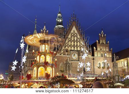 Christmas market in Wroclaw,Poland