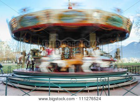 Carousel Merry-go-round While Rounding