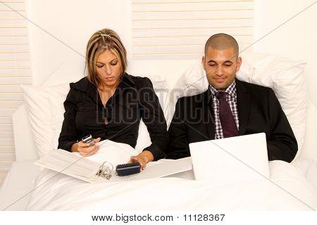 workaholic couple