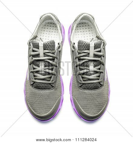 Sneakers isoalted on white.