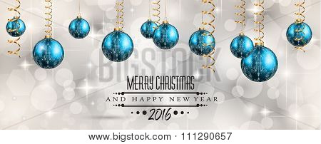 2016 Merry Christmas and Happy New Year Background for Seasonal Greetings Cards, Parties Flyer, Dineer Event Invitations, Xmas Cards and sp on.