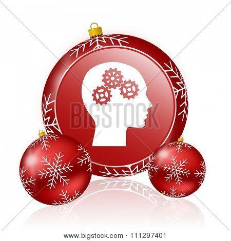 head christmas icon
