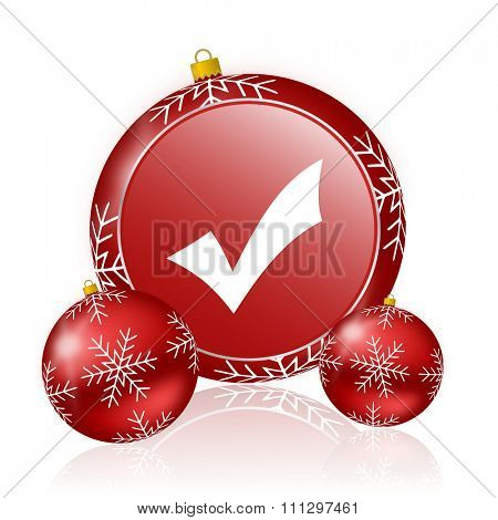 accept christmas icon poster