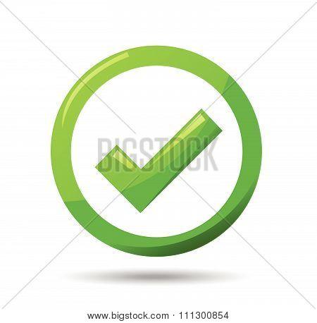 Green check mark symbol