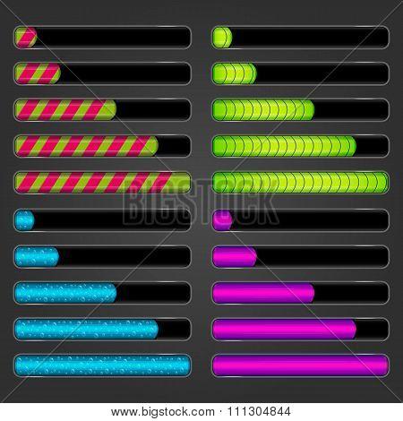 Set Of Bar Downloader