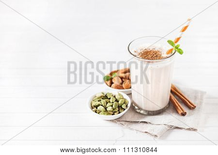 Indian Almond Lassi Beverage