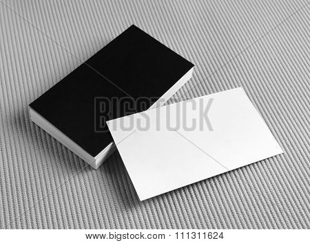 Set Of Blank Business Cards