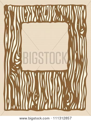 wood texture photo frame