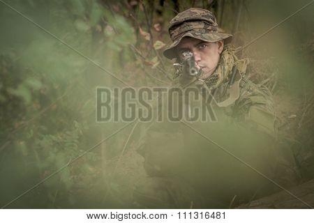 Camouflaged Commando Assault