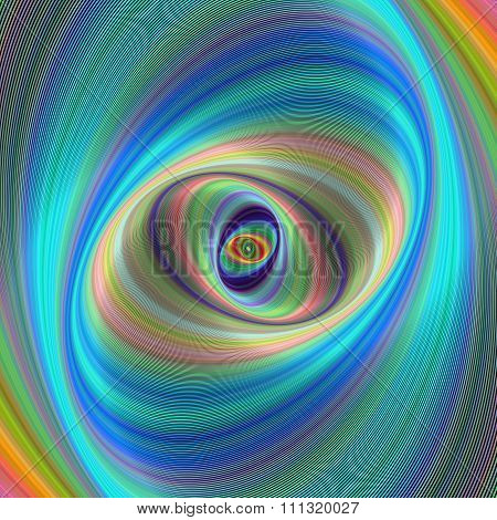 Abstract colorful elliptical geometric digital background